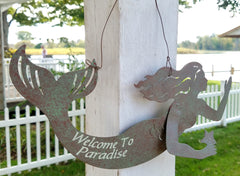 HANGING METAL MERMAIDS * VARIOUS QUOTES
