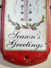 VINTAGE CHRISTMAS STYLE THERMOMETER
