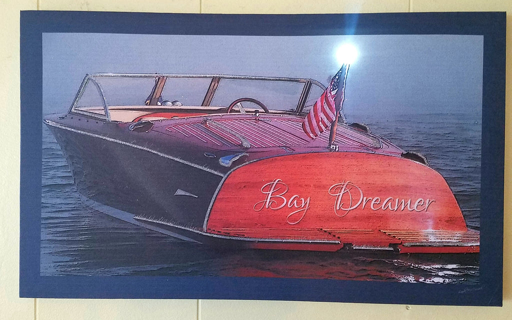 """BAY DREAMER"" LIGHTED CANVAS 20"" x 12"""
