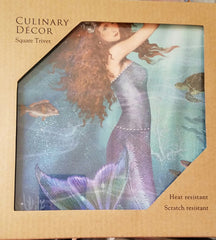"MERMAID TRIVET * 7 1/2"" X 7 1/2"""
