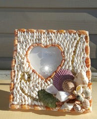 BEAUTIFUL SHELL PICTURE FRAME!
