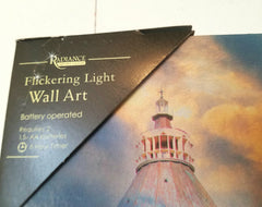 Flickering Lighthouse Canvas Psalm 27:1