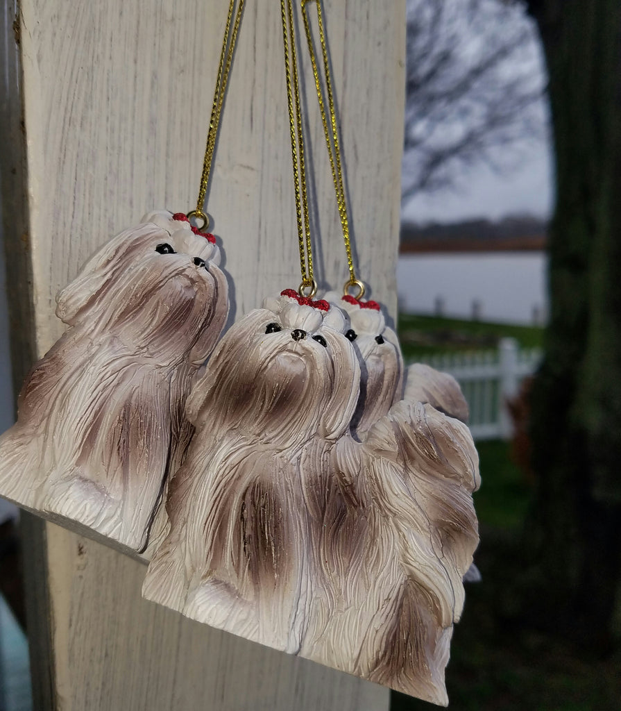 3 Dangling YORKIES Yorkshire Terriers *Set of 3