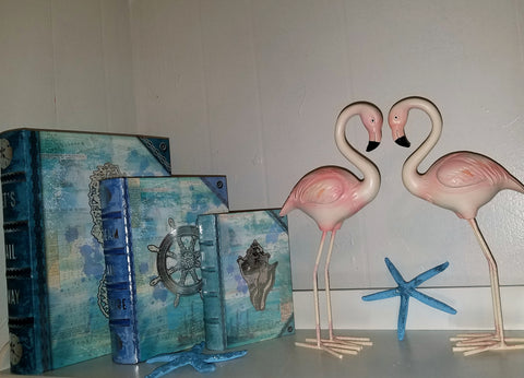PAIR of PINK FLAMINGOS!