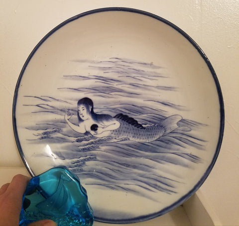 Vintage Mermaid Decorative Plate