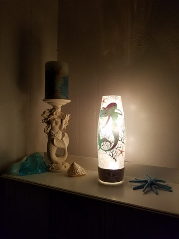 "STUNNING TALL MERMAID LAMP! 11 3/4"" TALL!"