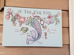 """IF THE TAIL FITS"".... SHIMMERING w/Crystals PAINTED ON CANVAS! 8"" X 12"" X 1"" Thick"