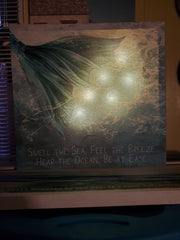 MERMAID LIGHTED with SOUND (Crashing Waves) CANVAS