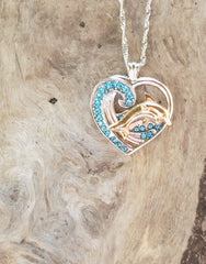 DOLPHIN 925 STERLING DOLPHIN NECKLACE w/Chain