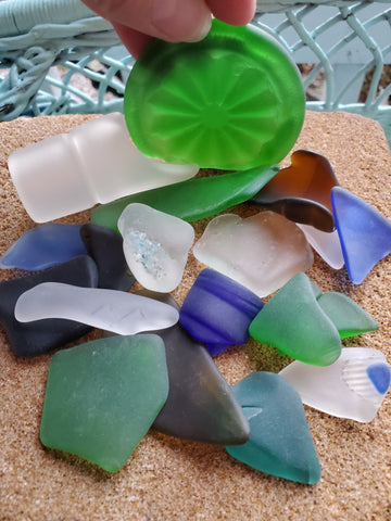 AS SHOWN  1/2 LB  OF SEA/BEACH GLASS! #CE215