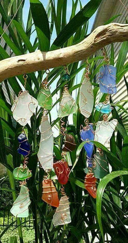 GORGEOUS DRIFTWOOD and SEA GLASS Sun Catchers!