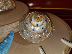 Glamourized Pearlescent Seashell with SWAROVSKI CRYSTALS * ABSOLUTELY STUNNING! *