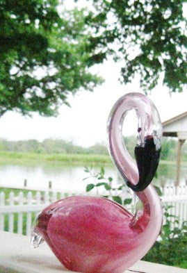 Beautiful Pink Elegant Art Glass Flamingo!