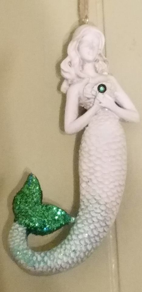 Shimmery Hanging Mermaid w/SWAROVSKI CRYSTAL
