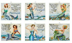 * SASSY MERMAIDS! * 6 DIFFERENT SIGNS TO CHOOSE FROM!