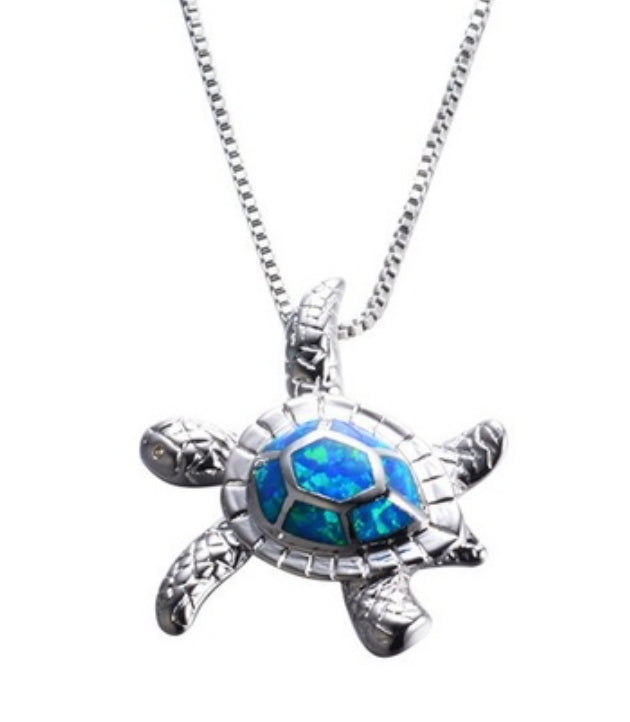 Beautiful Sterling Sea Turtle Pendant!