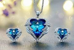 SWAROVSKI CRYSTAL 3PC Set! TWILIGHT & OCEAN BLUE COLORS! GORGEOUS!