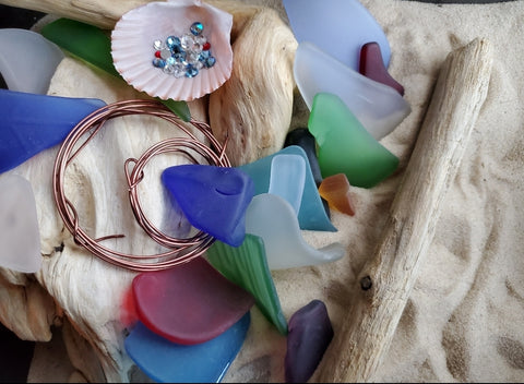 DO-IT-YOURSELF * DRIFTWOOD & SEAGLASSS SUN CATCHER!