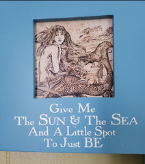 "LAST SET OF 3 MERMAID QUOTES * SHABBY WOOD 6"" x 6"" x 3 1/2"""