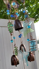 * BEAUTIFUL GLASS STARFISH AND BELLS CHIMES! *