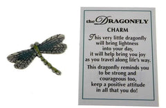 BEAUTIFUL DRAGONFLY CHARM W/POEM!