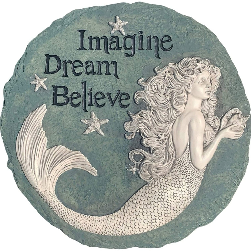 "LARGE 11"" X 11"" MERMAID PLAQUE OR GARDEN ACCENT!"