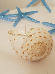 Set of 5 Ocean Blue Shimmering Starfish!