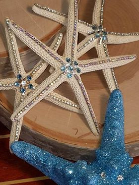 Set of 3 - GLAMORIZED FAUX STARFISH with SWAROVSKI CRYSTALS and RHINESTONES!