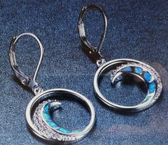 Coastal Waves - Blue w/Pave Crystals