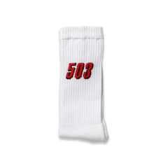 503 CREW SOCKS - WHITE