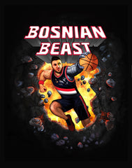 BOSNIAN BEAST TEE - COMICBOOK BLACK