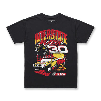 I-5 SPEEDWAY TEE - WASHED BLACK