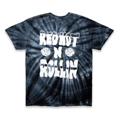 RED HEAD TEE - BLACK TIE DYE