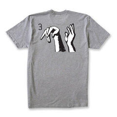 3 GOD TEE - ATHLETE GREY