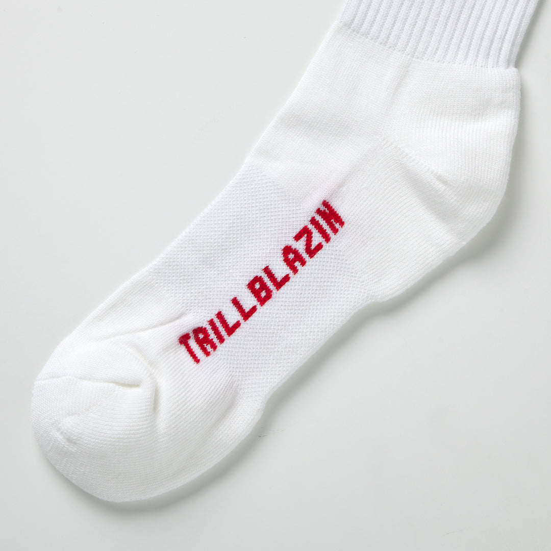 LEGENDS '30' CREW SOCKS - WHITE