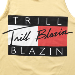 TRILL FIGURE TANK - PALE YELLOW