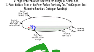 Surfboard Shaping Power Planing Tutorial