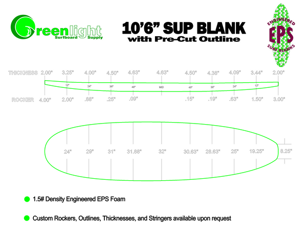 Stand Up Paddle Boards & SUP density EPS Foam Shaping Blanks USA