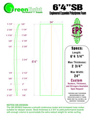 "6'4"" EPS Foam surfboard density blank how to shape a surf board"