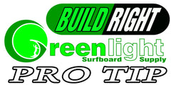 How to build a surfboard Greenlight Method