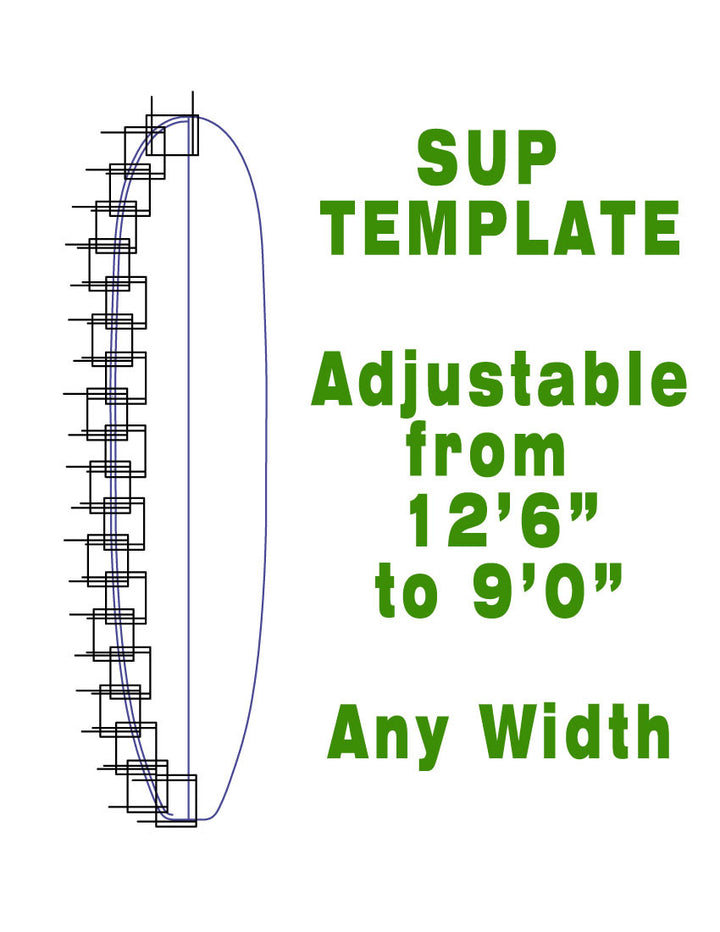 Stand Up Paddleboard Outline Template