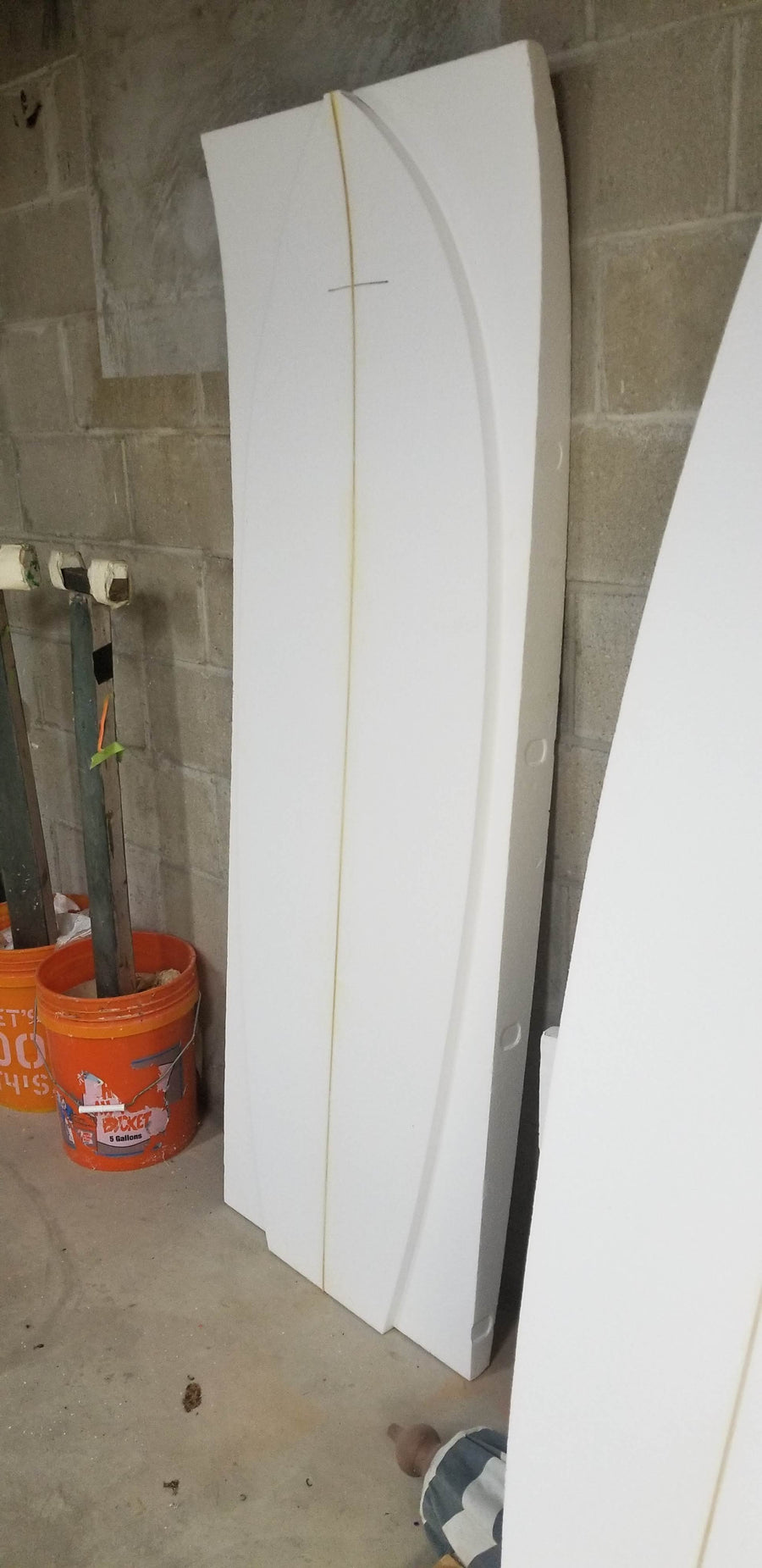 "Custom Cut Engineered EPS Foam Blank 7'7"" - 8'11"" Long"