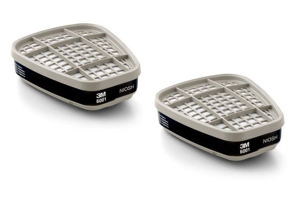 3M Organic Vapor Cartridge 6001 (Pair)