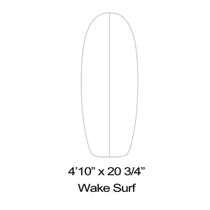 Wake Surfboard Outline Templates