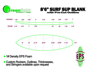 [SUP SERIES] 1# Density EPS Foam SUP (Stand Up Paddleboard) Blanks