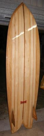 "Wood Surfboard Kit - 6'10"" KingFish"