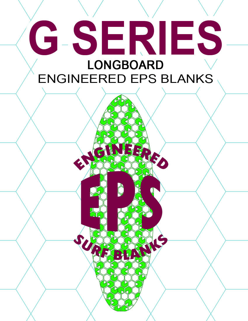[G Series] EPS Foam Longboard Surfboard Blanks : Standard All Around Longboard Blank