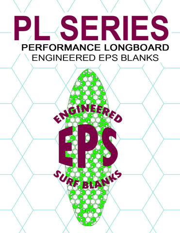 [PL Series] EPS Foam Longboard Surfboard Blanks : Hi-Performance Longboards