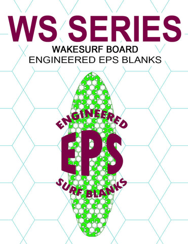 [WS Series] EPS Foam Wakesurf Board Blanks : Surf Style Wakesurf Board Shapes
