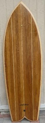"Wood Surfboard Kit - 5'6"" Fast Lucy Fish"